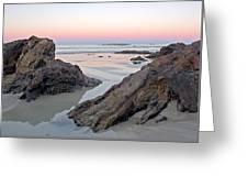 Sunset  Denhams Beach. Greeting Card