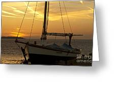 Sunset Dinghy Greeting Card