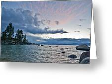 Sunset Drama At Tahoe Greeting Card