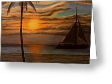 Sunset Eagle Beach Greeting Card