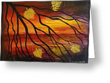 Sunset Greeting Card by Elena  Constantinescu