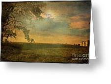 Sunset Farmland Greeting Card