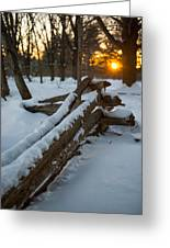 Sunset Fence Greeting Card