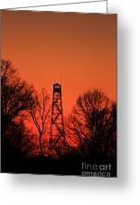 Sunset Fire Tower In Oconee County Greeting Card