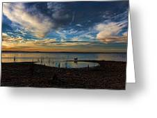 Sunset Fishing  Hot Dogggg Greeting Card