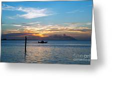 Sunset Fishing Greeting Card by Tammy Smith