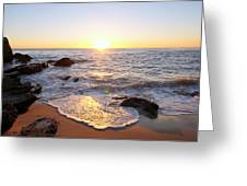 Sunset Foam Greeting Card