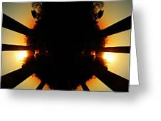 Sunset Folly Greeting Card