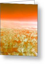 Sunset From Above Greeting Card