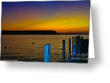 Sunset From Andersons Dock Greeting Card