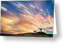Sunset From Another Planet  Greeting Card