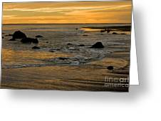 Sunset From Damon Point Greeting Card