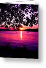 Sunset From Point Fosdick Gig Harbor Washington Greeting Card