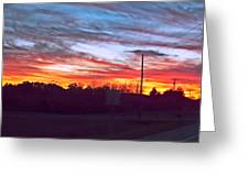 Sunset From Tellico Plains Greeting Card