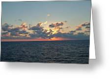 Sunset From The Carnival Triumph Greeting Card