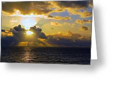 Sunset From The Mumbles Greeting Card