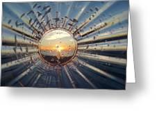 Adelaide Beach Sunset Glass Greeting Card