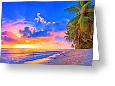 Sunset Glow On The Kona Coast Greeting Card