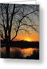 Sunset Glow Toms River New Jersey Greeting Card