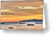 Sunset Gold Greeting Card