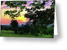 Sunset Golf Course Greeting Card
