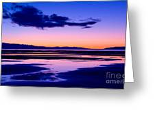 Sunset Great Salt Lake - Utah Greeting Card