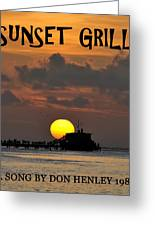 Sunset Grill Don Henley 1984 Greeting Card