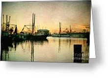 Sunset Harbor Glow Greeting Card