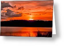 Sunset Huntington Beach State Park Greeting Card