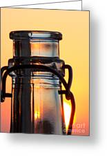 Sunset In A Bottle Greeting Card