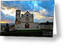 Sunset In Assisi Greeting Card