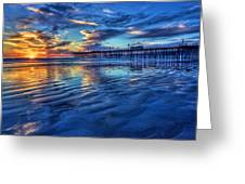 Sunset In Blue Greeting Card