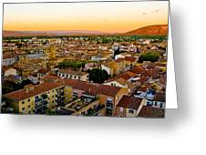 Sunset In Cavaillon Greeting Card