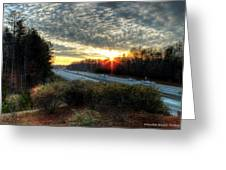 Sunset In Charlotte #3 Greeting Card