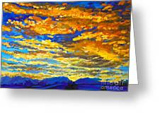 Sunset In Colorado Greeting Card