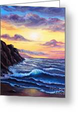 Sunset In Colors Greeting Card