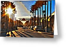Sunset In Daytona Beach Greeting Card