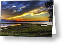 Sunset In Delaware Greeting Card