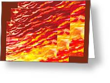 Sunset In Desert Abstract Collage  Greeting Card
