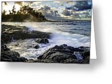 Big Island - Sunset In Hilo Greeting Card