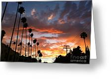 Sunset In Hollywood Greeting Card