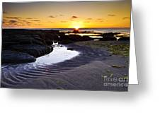Sunset In Iceland Greeting Card