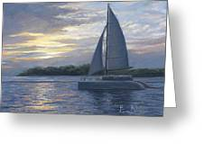 Sunset In Key West Greeting Card by Lucie Bilodeau