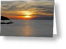 Sunset In Koper Greeting Card