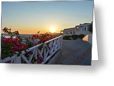 Sunset In Kos Island Greeting Card