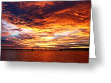 Sunset In Long Beach Ms Greeting Card