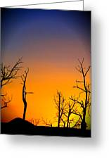 Sunset In Mesa Verde Greeting Card