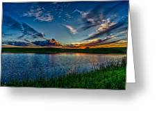 Sunset In Montana Greeting Card