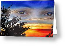 Sunset In My Eyes Greeting Card