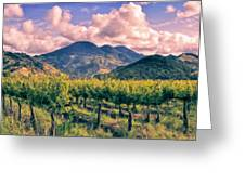 Sunset In Napa Valley Greeting Card